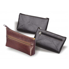 Ключница кожаная карманная на молнии 130х70, хлястик для ключей K.06858