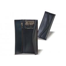 Ключница кожаная карманная 140х70 на 6 ключей с карманом K.09029-14