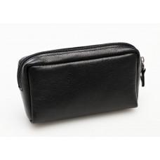 Ключница из кожи карманная на молнии 130х80, 2 хлястика для ключей K.06859