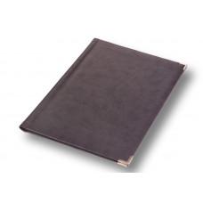 Папка адресная на подпись А4 серая, кожзаменитель Vivella