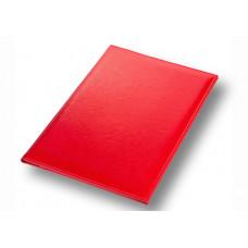 Папка адресная на подпись А4 красная, кожзаменитель Memory