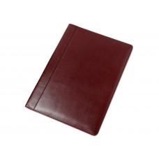 Папка адресная на подпись А4 бордовая, кожа Бразилия