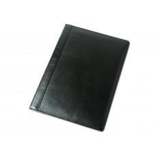 Папка адресная (на подпись) кожаная А4 чёрная