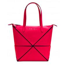 Сумка наплечная женская, Cross Origami, кожа наппа гладкая+ткань, цвет розовый, 31 х 26,3 х 10 см