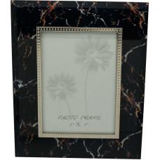 """Рамка для фотографии Jardin D'Ete """"Мрамор"""", cталь, стекло, размер фото 13 х 18 см, тёмно-синий"""
