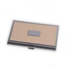 Визитница Pierre Cardin. Корпус - металл, иск.кожа. Размер 9,3 х 6,0 х 0,8 см. Цвет - бежевый.