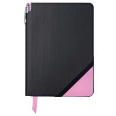 Записная книжка Cross Jot Zone, A5, 160 страниц в линейку, ручка в комплекте. Цвет - черно-розо