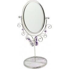 "Зеркало на подставке Jardin D'Ete  ""Нежная сирень"", сталь, стекло, 10 х 10 х 28 см"