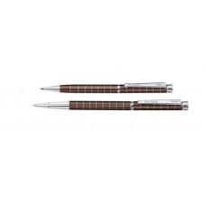 Набор  Pierre Cardin PEN&PEN: ручка шариковая + роллер. Цвет - коричневый. Упаковка Е.