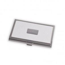 Визитница Pierre Cardin. Корпус - металл, иск.кожа. Размер 9,3 х 6,0 х 0,8 см. Цвет - белый.