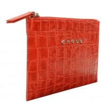 Клатч мини Cross Bebe Coco, кожа наппа фактурная, цвет красный/бежевый, 21 х 15 х 1 см