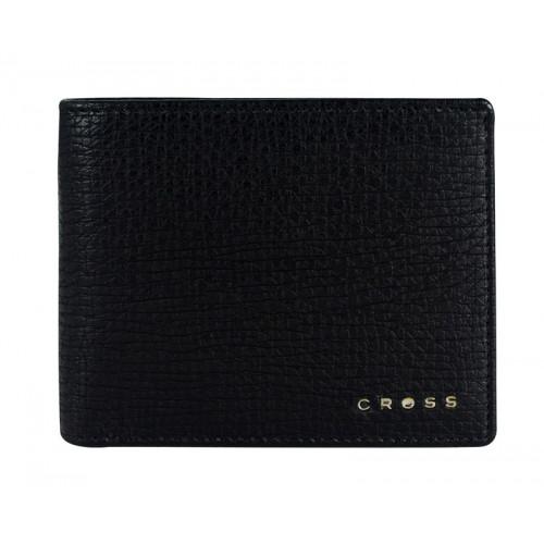 Кошелёк Cross RTC Black, кожа наппа, тисненая, чёрный, 11 х 9 х 1,5 см