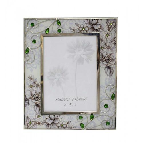 """Рамка для фотографии Jardin D'Ete """"Благородный изумруд"""", cталь, стекло, 21,7 х 26 см, фото 13х18 см"""