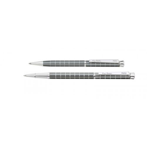 Набор Pierre Cardin PEN and PEN: ручка шариковая + роллер. Цвет - серый.