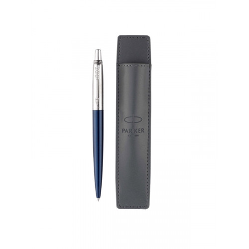 Подарочный набор Parker: Ручка шариковая Parker Jotter Royal Blue CT + чехол для ручки (иск.кожа)
