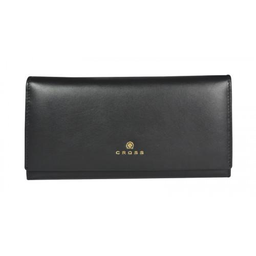 Кошелёк Cross Monaco Black, кожа наппа, гладкая, цвет чёрный, 20 x 11 x 2,5 см