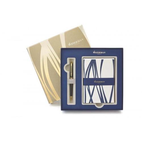 Подарочный набор Waterman: ручка шариковая Hemisphere Black + набор открыток и конвертов