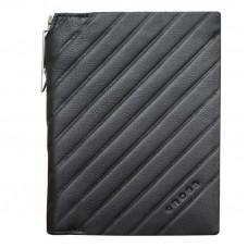 Обложка для документов Cross Grabado с ручкой Cross, кожа наппа, фактурная, чёрный, 11 х 1 х 14 см
