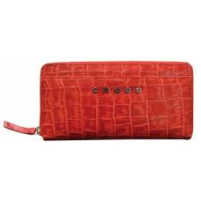 Кошелёк Cross Bebe Coco, кожа наппа фактурная, цвет красный/бежевый, 18,8 х 10,2 х 1,5 см