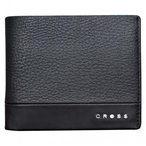 Кошелёк, Cross Nueva FV, кожа наппа, фактурная, чёрный, 11,5 х 1,5 х 9,5 см