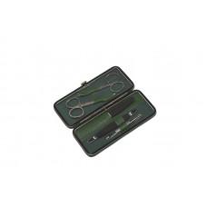 Маникюрный набор GD, 5пр. Футляр: натур.кожа, цвет зеленый