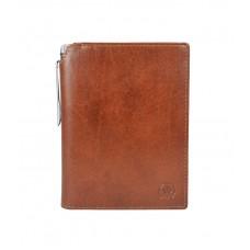 Бумажник для документов Cross Vachetta New Cognac, с ручкой Cross, кожа наппа, гладкая, рыже-корич.