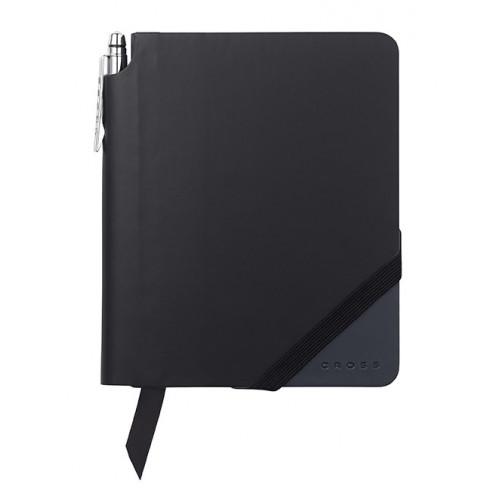 Записная книжка Cross Jot Zone, A6, 160 страниц в линейку, ручка в комплекте. Цвет - черно-т.син