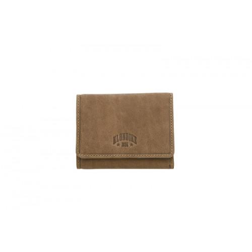 Бумажник женский KLONDIKE «Jane», натуральная кожа в коричневом цвете, 11 х 8,5 х 1,5 см