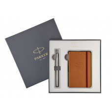 Подарочный набор Parker: Перьевая ручка Parker Sonnet Stainless Steel + блокнот