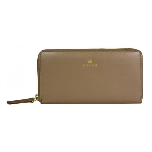Кошелёк Cross Monaco Taupe, кожа наппа, гладкая, цвет бежевый, 19,5 x 10,2 x 2 см