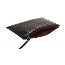Клатч мини Cross Bebe Coco, кожа наппа фактурная, цвет чёрный/розовый,  21 х 15 х 1 см