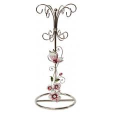"""Подставка для украшений  Jardin D'Ete  """"Розовая глазурь"""", сталь, стекло, 10 х 10 х 24 см"""