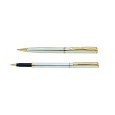 Набор: ручка шариковая + роллер Pierre Cardin PEN and PEN, корпус - латунь. Отделка - матовое