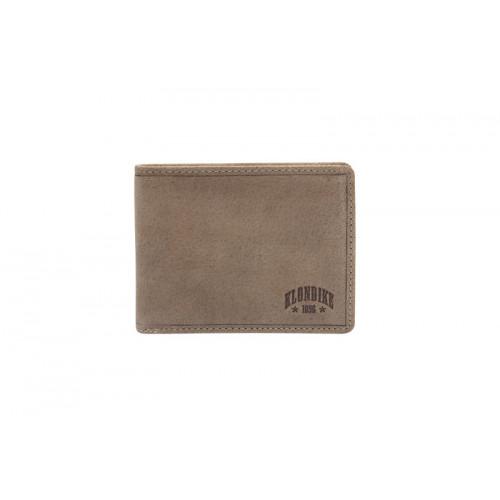 Бумажник KLONDIKE «Tony», натуральная кожа в коричневом цвете, 12 х 9 см