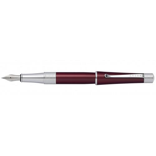 Перьевая ручка Cross Beverly. Цвет - красный, перо - нержавеющая сталь, среднее.