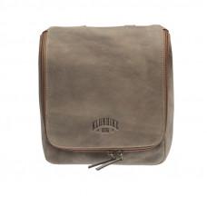 Несессер KLONDIKE «Blake», винтажная кожа в коричневом цвете, 22 х 28 х 7,5 см