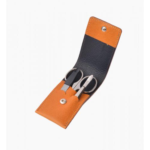 Маникюрный набор Dovo Limited Edition,3пр. Футляр: натур.кожа (вол), цвет коричневый