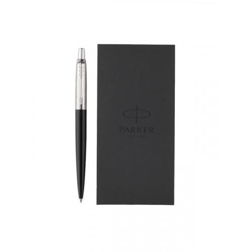 Подарочный набор Parker: Ручка шариковая Parker Jotter Bond Street Black CT + блокнот