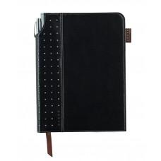 Записная книжка Cross Journal Signature A5, 250 страниц в линейку, ручка 3/4. Цвет - черный
