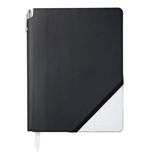 Записная книжка Cross Jot Zone, A4, 160 страниц в линейку, ручка в комплекте. Цвет - черно-белы
