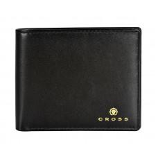 Кошелёк Cross Concordia Black, кожа наппа, гладкая, чёрный, 11 х 9 х 1,5 см