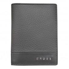 Обложка для кредитных карт, Cross Nueva FV, кожа наппа, фактурная, серый, 11 х 1 х 9 см