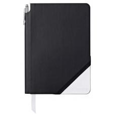 Записная книжка Cross Jot Zone, A5, 160 страниц в линейку, ручка в комплекте. Цвет - черно-белы