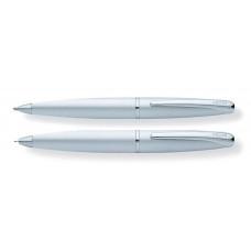 Набор Cross ATX: шариковая ручка и механический карандаш 0.7мм. Цвет - матовый хромовый
