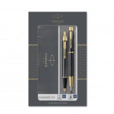 Подарочный набор Parker: IM Core Black GT - ручки перьевая и шариковая