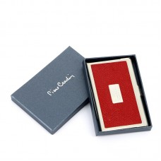 Визитница Pierre Cardin. Корпус - металл, иск.кожа. Размер 9,3 х 6,0 х 0,8 см. Цвет - красный.