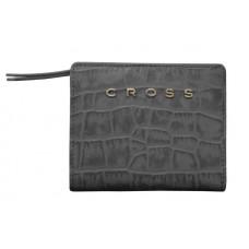 Кошелёк Cross Bebe Coco, кожа наппа фактурная, цвет чёрный/розовый, 11,2 х 9,4 х 2 см