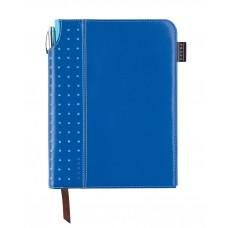 Записная книжка Cross Journal Signature A5, 250 страниц в линейку, ручка 3/4. Цвет - синий
