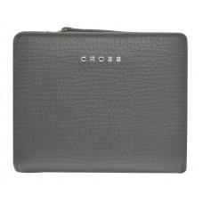 Кошелёк Cross RTC, кожа наппа тиснёная, цвет серый, 11,2 x 9,4 x 2 см