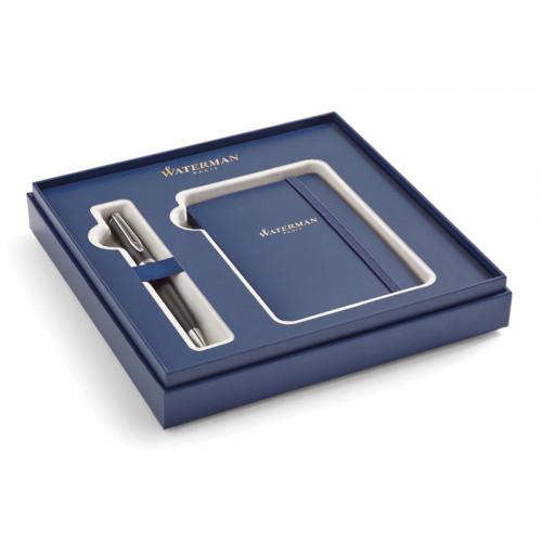 Подарочный набор Waterman: Шариковая ручка Waterman Expert  MBlk CT + блокнот